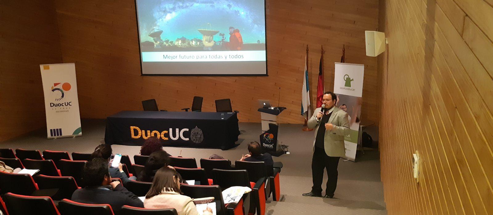Exitosa charla de Mario Santelices en Duoc UC