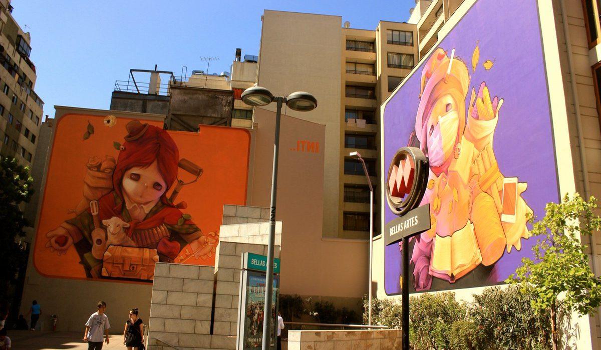 Recorrido artístico (y gratis) por Santiago