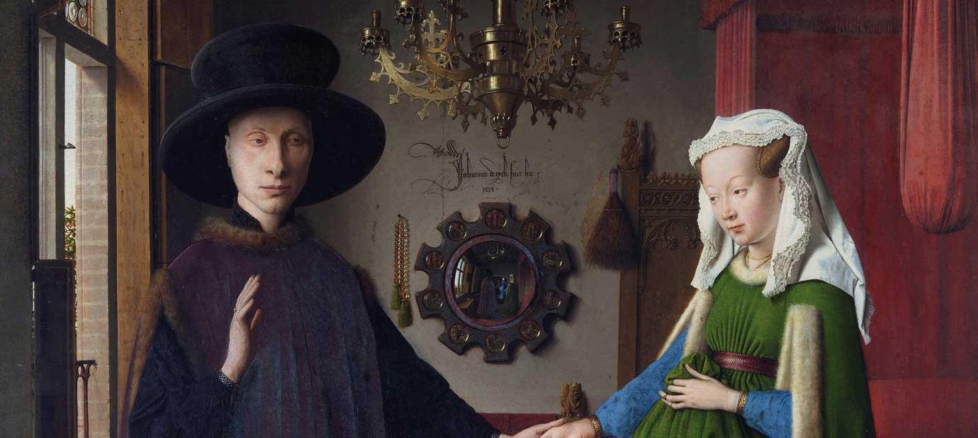 Jan Van Eyck: Retrato de Giovanni Arnolfini y su esposa