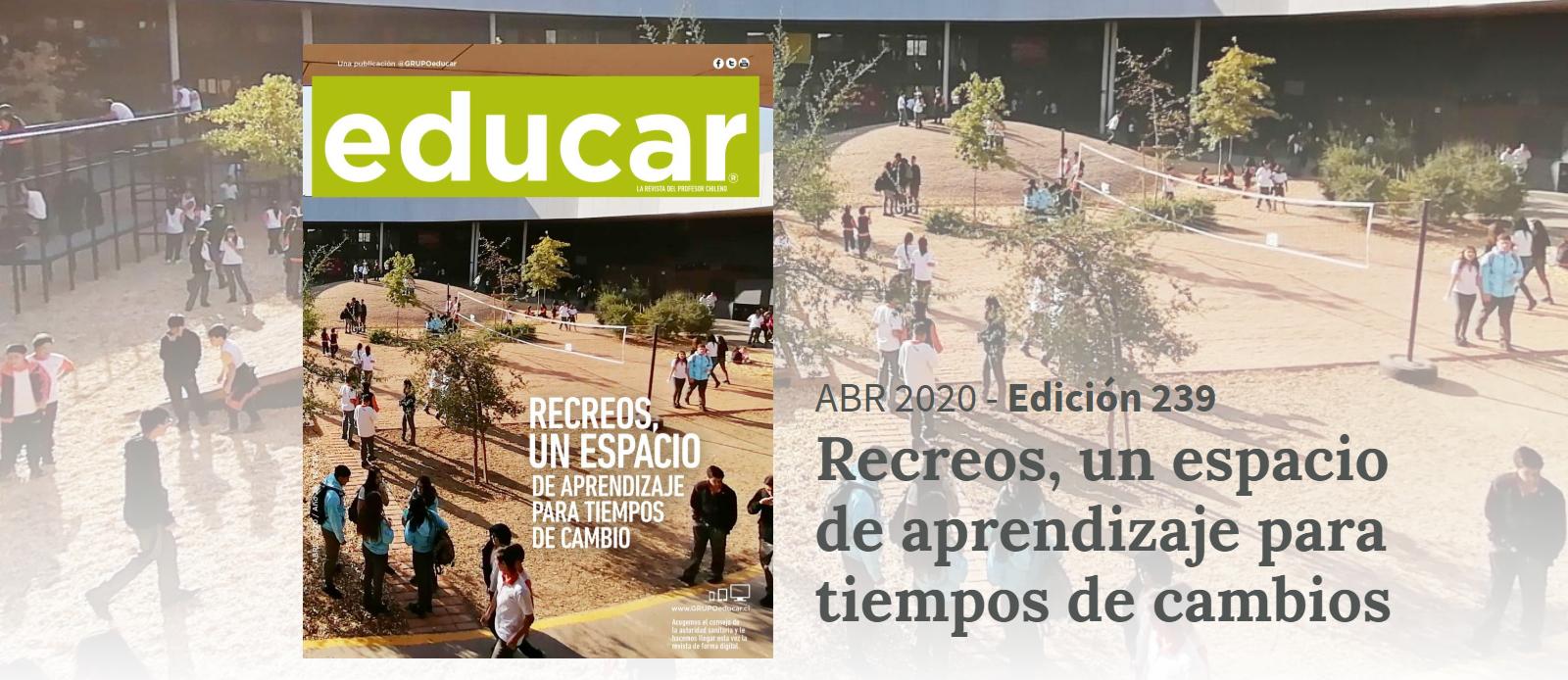 Revista Educar abril, ahora en versión digital