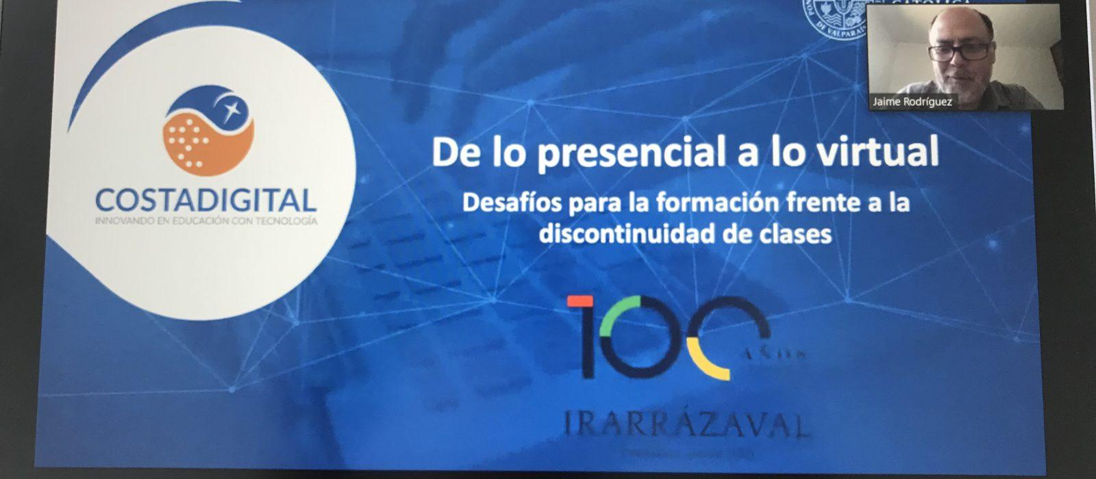 Decenas de profesores participaron en el primer seminario online organizado por Grupo Educar