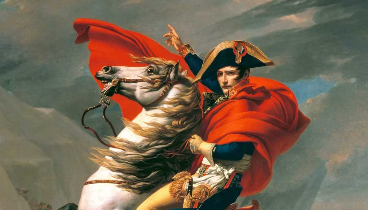 Jacques-Louis David: Napoleón cruzando Los Alpes. 1801