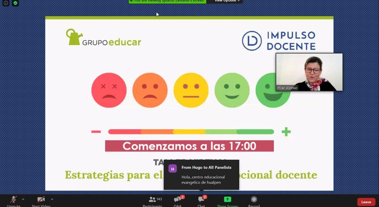 Grupo Educar apoya el bienestar docente con talleres virtuales